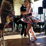 Rock 'n' roll dancing at Open Mic, Angas Plains Wines, 21 Sep 2014