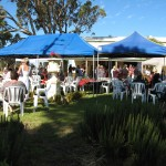 Party in the gardens at Angas Plains Wines Cellar Door
